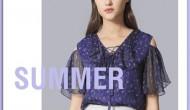 GEBANG哥邦女装2019夏季新款露肩装流行趋势